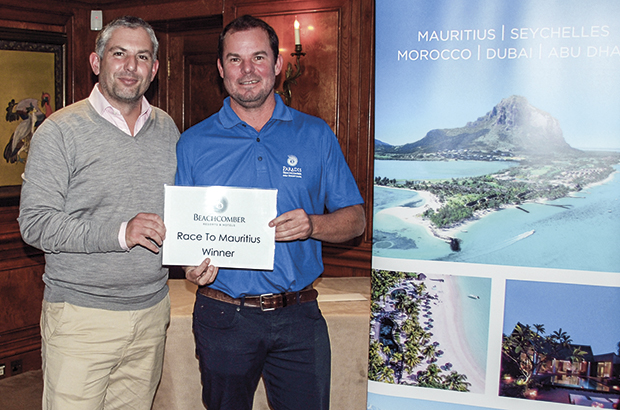 A member at Foxhills, in Ottershaw, will be winging his way to Mauritius after winning the inaugural Beachcomber Tours' Road to Mauritius Golf Championship at Stoke Park, in Berkshire.
