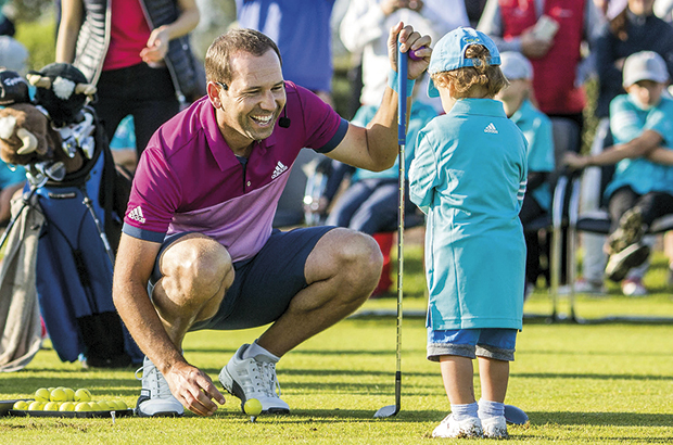 AFTER capturing his third title of the year, Sergio Garcia returned to PGA Catalunya Resort, near Girona, for the sixth year in succession, to spend time with students of his Junior Golf Academy.