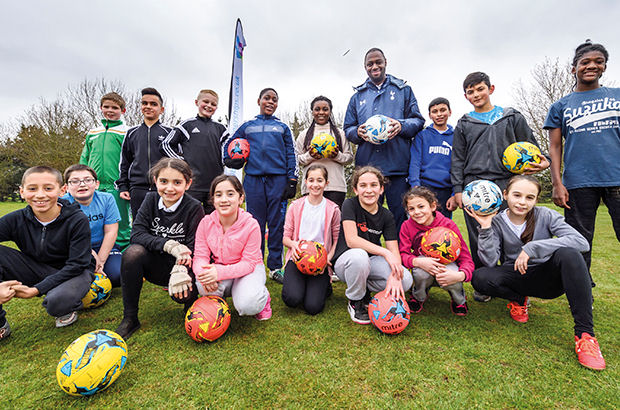 Spurs star King at FootGolf launch