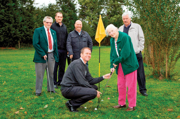 Golf club chips in for care home residents