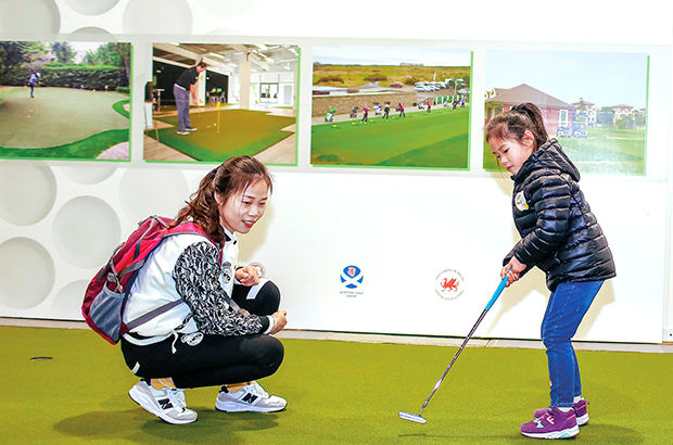 Golf remains a fledgling sport in China