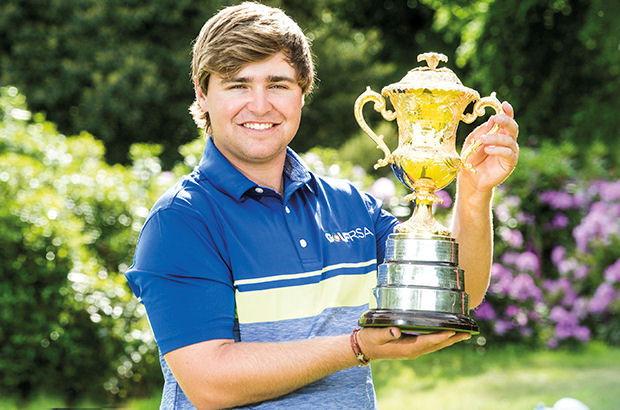 Kyle is all smiles after narrow victory in the Brabazon Trophy